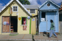 Typical Caribbean houses, St. Lucia, Windward Islands, West Indies, Caribbean, Central America 20062011571| 写真素材・ストックフォト・画像・イラスト素材|アマナイメージズ