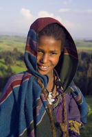 Portrait of local girl, UNESCO World Heritage Site, Simien Mountains National Park, Ethiopia, Africa 20062011970| 写真素材・ストックフォト・画像・イラスト素材|アマナイメージズ