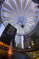 Interior of the Sony Center illuminated at night, Potsdamer Platz, Berlin, Germany, Europe 20062012320| 写真素材・ストックフォト・画像・イラスト素材|アマナイメージズ
