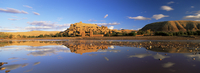 Reflections of kasbah in river, Kasbah Ait Benhaddou, UNESCO World Heritage Site, near Ouarzazate, Morocco, North Africa, Africa 20062015794| 写真素材・ストックフォト・画像・イラスト素材|アマナイメージズ