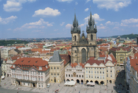 Skyline including the Tyn Church on the Old Town Square in the city of Prague, UNESCO World Heritage Site, Czech Republic, Europ 20062019861| 写真素材・ストックフォト・画像・イラスト素材|アマナイメージズ