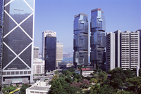 Bank of China building on left, and Lippo Towers on the right, Central, Hong Kong Island, Hong Kong, China, Asia 20062022048| 写真素材・ストックフォト・画像・イラスト素材|アマナイメージズ