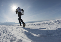The 9th Lake Baikal Ice marathon, Lake Baikal, Irkutsk Oblast, Siberia, Russian Federation, Eurasia 20062022212| 写真素材・ストックフォト・画像・イラスト素材|アマナイメージズ