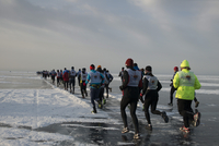 The 9th Lake Baikal Ice marathon, Lake Baikal, Irkutsk Oblast, Siberia, Russian Federation, Eurasia 20062022213| 写真素材・ストックフォト・画像・イラスト素材|アマナイメージズ