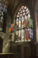 Banners of the Knights of the Order of the Thistle, St. Giles' Cathedral, Edinburgh, Scotland, United Kingdom, Europe 20062026058| 写真素材・ストックフォト・画像・イラスト素材|アマナイメージズ