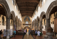 Interior looking East, Bangor Cathedral, Wales, United Kingdom, Europe 20062026096| 写真素材・ストックフォト・画像・イラスト素材|アマナイメージズ