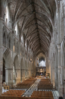 Interior looking East, Worcester Cathedral, Worcester, England, United Kingdom, Europe 20062026138| 写真素材・ストックフォト・画像・イラスト素材|アマナイメージズ