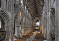 Interior looking East, Worcester Cathedral, Worcester, England, United Kingdom, Europe 20062026139| 写真素材・ストックフォト・画像・イラスト素材|アマナイメージズ