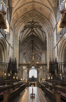 Choir and nave looking West, Worcester Cathedral, Worcester, England, United Kingdom, Europe 20062026141| 写真素材・ストックフォト・画像・イラスト素材|アマナイメージズ