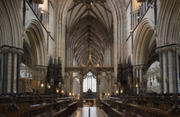 Choir and nave looking West, Worcester Cathedral, Worcester, England, United Kingdom, Europe 20062026142| 写真素材・ストックフォト・画像・イラスト素材|アマナイメージズ