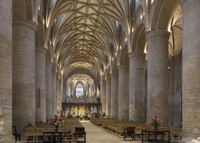 Interior looking East, Tewkesbury Abbey, Gloucestershire, England, United Kingdom, Europe 20062026146| 写真素材・ストックフォト・画像・イラスト素材|アマナイメージズ