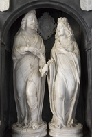 Effigies of Edward Noel Viscount Campden and his wife, St. James Church, Chipping Campden, Gloucestershire, Cotswolds, England, 20062026164| 写真素材・ストックフォト・画像・イラスト素材|アマナイメージズ