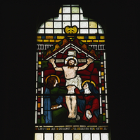 Crucifixion by Maddox Brown, stained glass by William Morris Company, Selsley church, Gloucestershire, England, United Kingdom, 20062026225| 写真素材・ストックフォト・画像・イラスト素材|アマナイメージズ