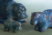 Faience animals from the 11th Dynasty in ancient Egypt, Louvre, Paris, France, Europe 20062026844| 写真素材・ストックフォト・画像・イラスト素材|アマナイメージズ