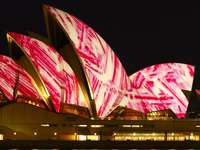 Festival of Light, Sydney Opera House, UNESCO World Heritage Site, Sydney, New South Wales, Australia, Pacific 20062029300| 写真素材・ストックフォト・画像・イラスト素材|アマナイメージズ