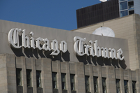 Chicago Tribune newpaper group, Chicago, Illinois, United States of America, North America 20062030274| 写真素材・ストックフォト・画像・イラスト素材|アマナイメージズ