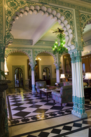 The Imperial Suite in Shiv Niwas Palace, a former royal guest house and now a heritage hotel, Udaipur, Rajasthan state, India, A 20062031475| 写真素材・ストックフォト・画像・イラスト素材|アマナイメージズ