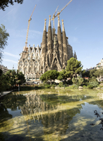 Gaudi's Cathedral of La Sagrada Familia, still under construction, UNESCO World Heritage Site, Barcelona, Catalonia, Spain, Euro 20062033726| 写真素材・ストックフォト・画像・イラスト素材|アマナイメージズ