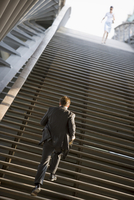 Man on stairs, Paris, France, Europe