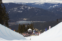 Telus Festival half pipe competition, Whistler mountain resort, venue of the 2010 Winter Olympic Games, British Columbia, Canada 20062046857| 写真素材・ストックフォト・画像・イラスト素材|アマナイメージズ