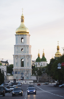 Bell tower of St. Sophia's Cathedral built between 1017 and 1031, UNESCO World Heritage Site, Kiev, Ukraine, Europe 20062046898| 写真素材・ストックフォト・画像・イラスト素材|アマナイメージズ