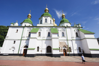 St. Sophia's Cathedral, built between 1017 and 1031 with baroque style domes, UNESCO World Heritage Site, Kiev, Ukraine, Europe 20062046904| 写真素材・ストックフォト・画像・イラスト素材|アマナイメージズ