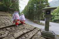 Pilgrims on Daimon-zaka Nachi Tokaido pilgrimage route, UNESCO World Heritage Site, Wakayama Prefecture, Honshu, Japan, Asia 20062048556| 写真素材・ストックフォト・画像・イラスト素材|アマナイメージズ