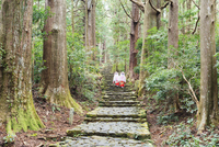 Pilgrims on Daimon-zaka Nachi Tokaido pilgrimage route, UNESCO World Heritage Site, Wakayama Prefecture, Honshu, Japan, Asia 20062048557| 写真素材・ストックフォト・画像・イラスト素材|アマナイメージズ