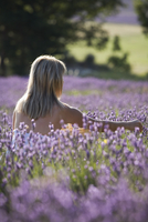 Woman in a lavender field, Provence, France, Europe 20062061858| 写真素材・ストックフォト・画像・イラスト素材|アマナイメージズ