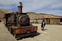 The old mining ghost town of Pulacayo, Industrial Heritage Site, famously linked to Butch Cassidy and the Sundance Kid, Bolivia, 20062066538| 写真素材・ストックフォト・画像・イラスト素材|アマナイメージズ