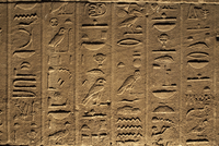 Hieroglyphs adorn the walls of the Temple of Philae, UNESCO World Heritage Site, near Aswan, Egypt, North Africa, Africa 20062067780| 写真素材・ストックフォト・画像・イラスト素材|アマナイメージズ