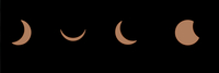 Composite sequence of a solar eclipse, United Kingdom, Europe 20062075554| 写真素材・ストックフォト・画像・イラスト素材|アマナイメージズ