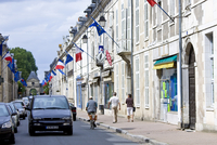 European Community and French flags in town of Richelieu in Loire Valley, Indre et Loire, France 20062119699| 写真素材・ストックフォト・画像・イラスト素材|アマナイメージズ