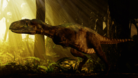 An Abelisaurus moves stealthily though the forest. 20064000068| 写真素材・ストックフォト・画像・イラスト素材|アマナイメージズ
