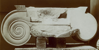 Part of a marble Ionic capital from the archaic Temple of Ar 20065000037| 写真素材・ストックフォト・画像・イラスト素材|アマナイメージズ
