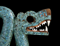 Mosaic of a double-headed serpent (detail of head) 20065000776| 写真素材・ストックフォト・画像・イラスト素材|アマナイメージズ