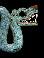 Mosaic of a double-headed serpent (detail of head) 20065000941| 写真素材・ストックフォト・画像・イラスト素材|アマナイメージズ