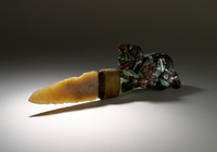 Sacrificial Knife with mosaic handle and chalcedony blade 20065000955| 写真素材・ストックフォト・画像・イラスト素材|アマナイメージズ