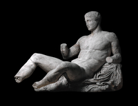 Figure of Dionysos from the east pediment of the Parthenon 20065001292| 写真素材・ストックフォト・画像・イラスト素材|アマナイメージズ