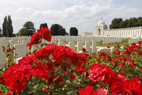 Belgium, near Ieper. Tyne Cot Commonwealth War Graves Cemetery and Memorial to the Missing for the dead of the First World War i 20088012604| 写真素材・ストックフォト・画像・イラスト素材|アマナイメージズ