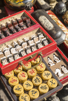 Xiangqi (chinese chess) and traditional chess sets, Dongtai Road Antiques Market, Shanghai, China 20088019642| 写真素材・ストックフォト・画像・イラスト素材|アマナイメージズ