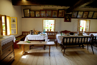 Czech Republic, North Moravia, Zlin, Roznov pod Radhostem, Wallachian Town. Interior of traditional wooden houses 20088021897| 写真素材・ストックフォト・画像・イラスト素材|アマナイメージズ