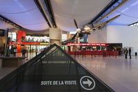 France, Normandy Region, Calvados Department, Caen, Le Memorial Peace Museum, museum lobby with World War 2-era British Hawker T 20088029751| 写真素材・ストックフォト・画像・イラスト素材|アマナイメージズ