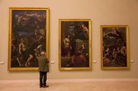 Modena, Emilia Romagna, Italy, A viewer at the fine art museum 20088042319| 写真素材・ストックフォト・画像・イラスト素材|アマナイメージズ