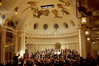 North Italy, Trentino, Alto Adige, Sud Tirol, Merano. A Symphonic Concert held inside the hall of the Belle Epoque  Kurhaus wher