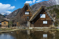 Traditional farmouses in the rural village of Shirakawago, Gifu Prefecture, Japan