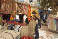 Young couple shopping in Essaouira. Morocco (MR)