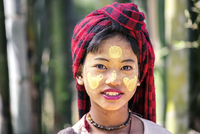 Myanmar, Shan state,  Nyaungshwe Township. Portrait of young girl (MR)
