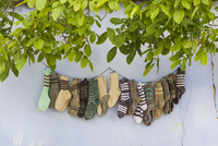 Romania, Transylvania, Viscri, traditional Romanian village, supported by Prince Charles of England, hand knit souvenir socks