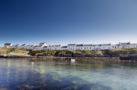 Scotland, Argyll and Bute, Isle of Islay. Cottages of Portnahaven village. 20088071033| 写真素材・ストックフォト・画像・イラスト素材|アマナイメージズ